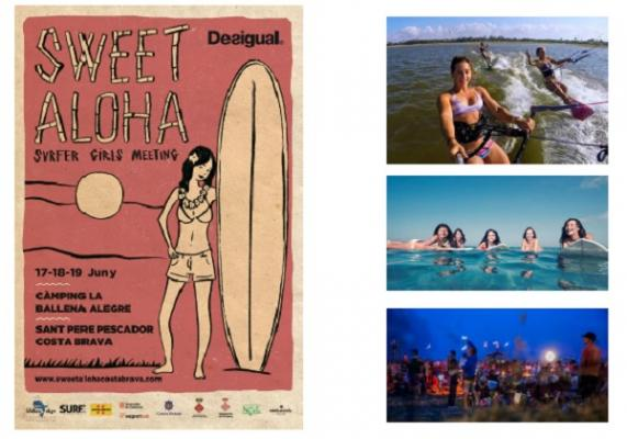 sweet aloha el surfer girl meeting de la costa brava