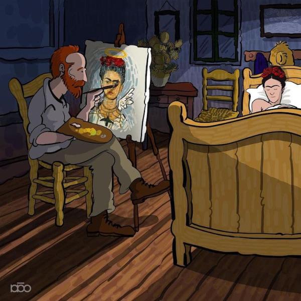 un-fan-de-van-gogh-ilustra-genialmente-sus-cuadros-mas-emblematicos